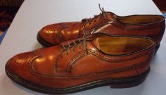 Wing tips Vintage Brown Men's Dress Shoes 11 B #DressFormal