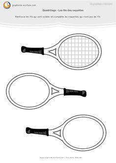 Graphisme MS Le quadrillage : Les fils des raquettes de tennis