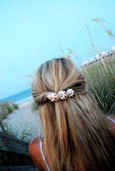 Scotch Bonnet seashell french hair clip. $5.00, via Etsy.