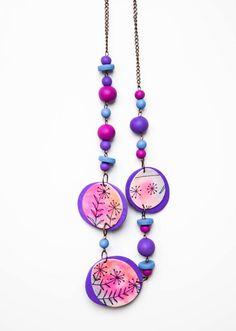 Necklace  #polymerclay #fimo #handmade #madeinslovenia #necklace