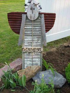 angel garden art from shutters - Google Search
