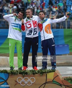 #RIO2016 Silver medalist Peter Kauzer of Slovenia gold medalist Joseph Clarke of…