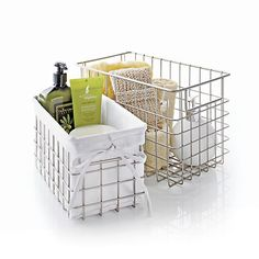 Kitchen Or Bathroom Small Wire Basket In Storage Baskets Bins Crate And Barrel
