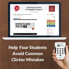Help your students avoid common clicker mistakes with this short video!