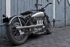 It looks like an Indian Four and it rides like an Indian Four, but this motorcycle has never been anywhere near Springfield, Massachusetts. Sitting in the frame is a one-liter NSU car engine, mated to a four-speed gearbox and shaft drive from a European pre-war motorcycle.