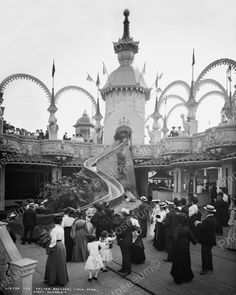 Helter Skelter Luna Park Coney Island NY 1905 Vintage 8x10 Reprint Of Old Photo