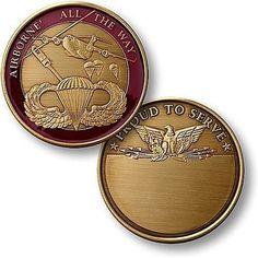 U.S. Army Airborne Bronze Antique Coin