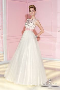 Alyce Paris 6289 prom dress available in Pink White; Navy White; Jade White; Yellow White; #prom #formal #dress