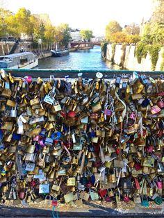 Love Lock Bridge Paris.