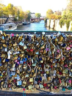 A piece of something with someone else, forever there. Love Lock Bridge Paris.
