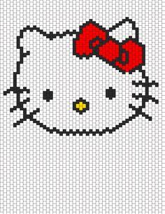 Hello Kitty Head bead pattern