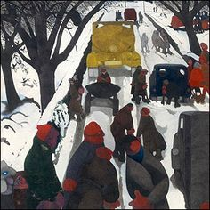 A new biography of Edward Burra offers magnificent insight into the talented painter's life. By Alistair Sooke. Figure Painting, Painting & Drawing, Expressionist Artists, Snow Scenes, Cool Artwork, Great Artists, Illustrators, Watercolor Paintings, Street Art
