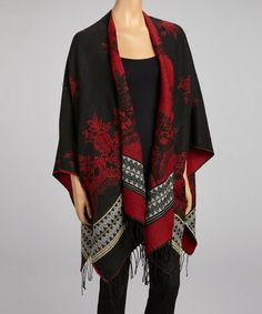 Take a look at this Red Arabesque Wrap by Shana-K on #zulily today!
