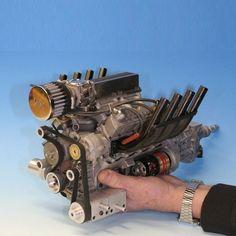 ◆ Visit MACHINE Shop Café ◆ (Fully Working Model V8 Engine)