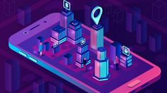 Smart city isometric concept by bsdgraphic on Architecture Mapping, Concept Architecture, City Architecture, App Map, City Illustration, Smart City, Future City, Futuristic, Online Business