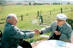 Harry Patch in Ypres in 2004 with Charles Kuentz, the last remaining German soldier from the first world war.