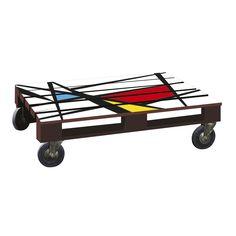 Table basse effet palette imprimé géométrique Marron/blanc - Palet - Les tables basses - Tables basses et bouts de canapé - Salon et salle à manger - Décoration d'intérieur - Alinéa
