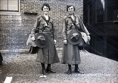 Great picture from 1920 - Adeline Gehrig and Alice Gilenke, US female fencing champions - Gehrig competed in the 1924 Olympics - the first Olympic Games open to women! (Maine Historical Society)