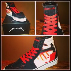 8edd27fa6829 Metallica Vans. my fav style want em so bad Vans Shoes
