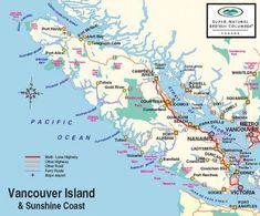 Where is Vancouver Island. Vancouver Island Map with cities and towns on the Vancouver Island Vacations business listings tourism information. The island was named after George Vancouver Visit Vancouver, Vancouver Travel, Vancouver British Columbia, Vancouver Vacation, Sunshine Coast, Map Of Victoria, Victoria Vancouver Island, Victoria Island Canada, Rio De Janeiro