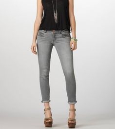 Skinny Crop Jean (in grey) | AE