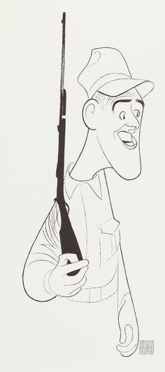 "Al Hirschfeld ~ Jim Nabors in ""Gomer Pyle"""