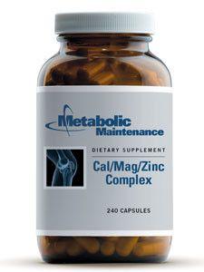 Metabolic Maintenance- Cal/Mag/Zinc Complex 240 caps