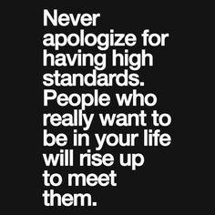 Never settle for less....I refuse