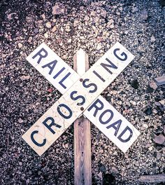 This vintage railroad crossing sign had fallen over into stones, which made for a great shot with added texture. Great Shots, Prints For Sale, Dan, Lyrics, Digital Art, Wall Art, Signs, Artwork, Photography