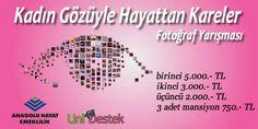 #yarışma  Anadolu Hayat Emeklilik'ten Ödüllü Fotoğraf Yarışması   Kazanan erkekte olabilir :) http://unidestek.net/kadin-gozuyle-hayattan-kareler-15-fotograf-yarismasi/