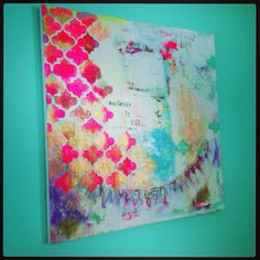 Embrace it all  original mixed media painting by catinajanegray, $230.00