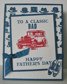 Stampin' Up! demonstrator Barb Mann - Masculine - To A Classic Card - SU - Happy Father's Day - Guy Greetings - a Stella MacKay Design Case