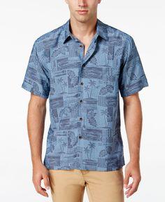 Quiksilver Waterman Men's Oak Harbor Tropical Short-Sleeve Shirt