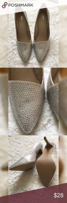 Selling this *NWOT* APT 9 platinum heels on Poshmark! My username is: cleavagecloset. #shopmycloset #poshmark #fashion #shopping #style #forsale #Apt. 9 #Shoes