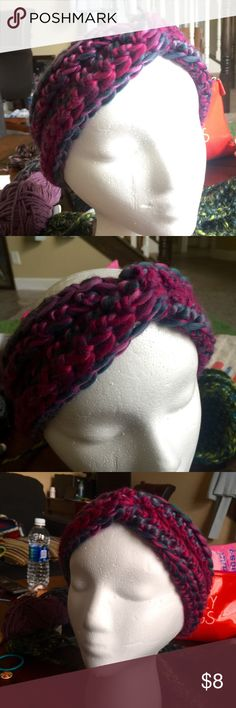 Turban style Twisted Headband // Ear Warmer Handmade crocheted, turban-style ear-warmer or headband. Whichever you want to call it. 901 by Stacey Accessories Hats