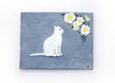 """Original painting """"Delicate Daydreams"""" by artist Helen Garfield. Small Canvas Paintings, Acrylic Painting Canvas, Canvas Artwork, Original Paintings, Pet Gifts, New Baby Gifts, Art Series, Art Blog, Delicate"""