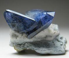 Benitoite crystals.