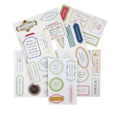 Anna Griffin 20 Sheets of Vellum Quote Stickers
