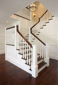 Iron Staircase Spindles - Design photos, ideas and inspiration. Amazing gallery of interior design and decorating ideas of Iron Staircase Spindles in bathrooms, entrances/foyers by elite interior designers. Staircase Spindles, Wooden Staircases, Banisters, Staircase Design, Stairways, Railings, Stair Treads, Interior Staircase, Stair Design