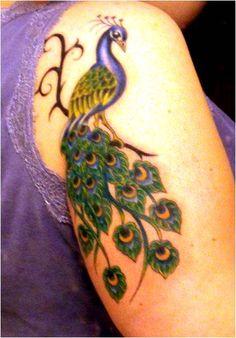 Peacock tattoo idea