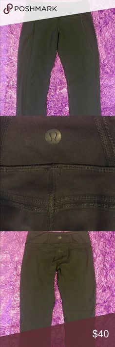 Lululemon crop pants black size 2. Like new! Lululemon black crop pants size 2. Great condition! No snags no piling. Look brand new!! Tight to calf. lululemon athletica Pants Ankle & Cropped