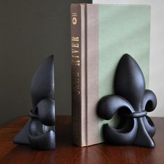 Napoleon Fleur-de-Lis Bookends Louisiana Online Mall