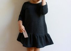 cute girl's knit dress pattern -- city dress / pdf sewing pattern sz by toosweetspatterns, $5.95