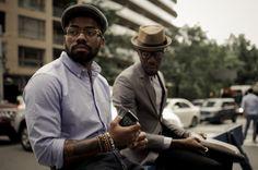 black men preppy style