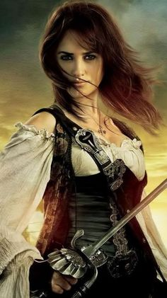 Angelica from Pirates of the Caribbean: On Stranger Tides. Exceptional swordswoman, enough to rival Jack Sparrow himself. Basically a butt-kicking pirate woman..need I say more?