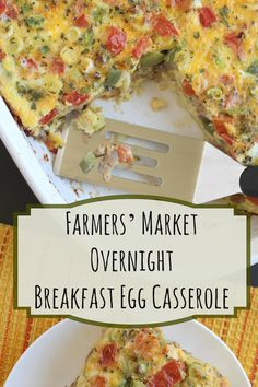Loaded with bountiful veggies and savory Italian sausage, this hearty Farmer's Market Overnight Egg Bake Casserole is perfect for holiday brunches or make-ahead breakfasts! ~ from Two Healthy Kitchens at www.TwoHealthyKitchens.com