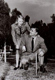 Clark Gable and his 4th wife Sylvia Ashley