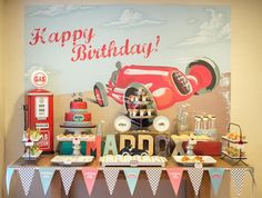 Hostess with the Mostess® - Vintage Race Car Party