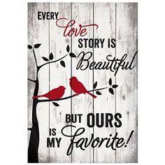 Every Love Story Pallet Wall Art http://shop.crackerbarrel.com/Every-Love-Story-Pallet-Wall/dp/B00VG3L7GQ