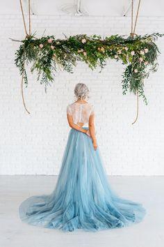Mae A Hand Painted modern tulle wedding gown от ChantelLaurenShop